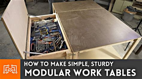 how to make a work table simple modular work tables with magnets woodworking