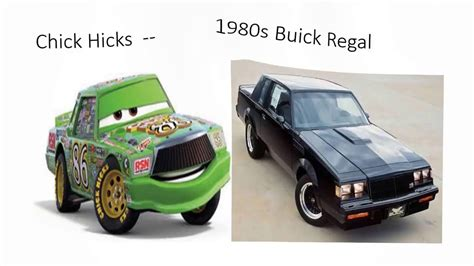 cars characters   real life counterparts youtube