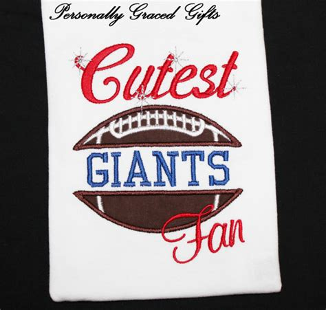 gifts for new york giants fans items similar to cutest giants football fan with sparkles