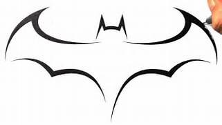 How To Draw Batman Log...