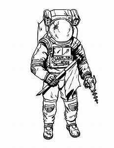 Space Suit Drawing (page 3) - Pics about space