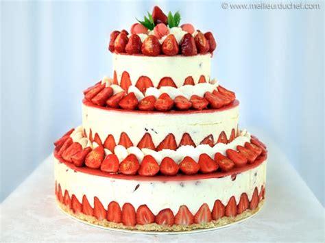 accessoire de cuisine professionnel fraisier façon wedding cake fiche recette avec photos