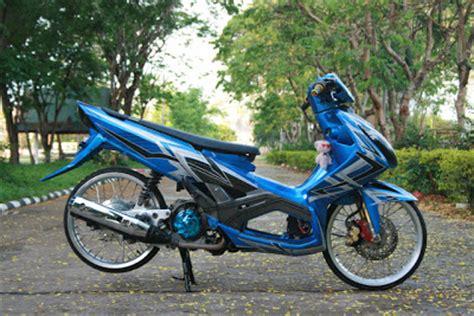 Modif Mio Soul Pelek 17 Warna Biru by Mio Modifikasi Velg 17 Gaul Motor Inspirasi Dari Thailand