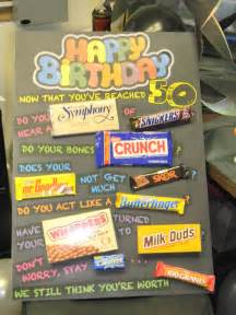 50th Birthday Candy Gift Ideas