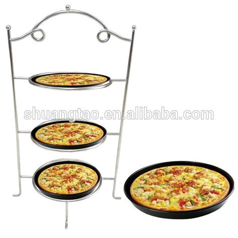 tier metal serving plate stand frame high tea desserts pizza rackguangzhou buy pizza stand