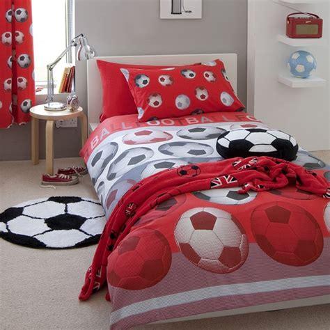 football bedroom kids boys single double duvet cover
