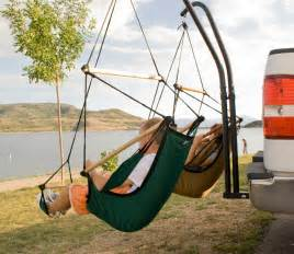 trailer hitch hammock chair stand