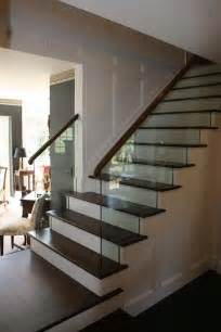 Glass Stairs with Railing