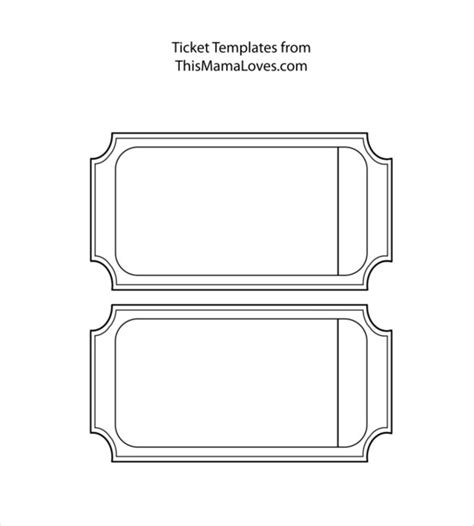 blank ticket template blank template 24 free word excel pdf psd eps documents free premium templates