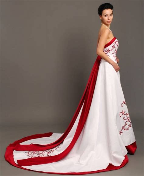 red  white wedding dresses pictures ideas guide
