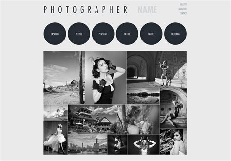 Photography Website Template  Free Photography Web