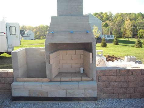 Building An Outdoor Fireplace With Cinder Block Home