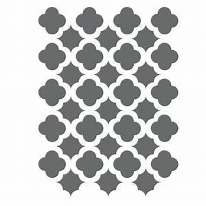 Moroccan Trellis Tile Stencils Template