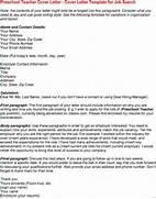 15 Application Letter For A Pre School Teacher Basic Preschool Teacher Cover Letter Number Names Worksheets Letter A Template For Preschool Preschool Teacher Cover Letter