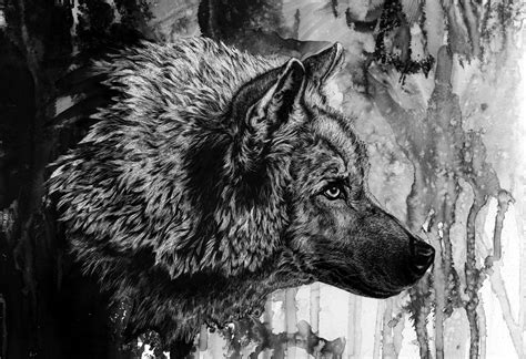ink wolf wallpapers hd desktop  mobile backgrounds