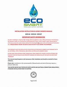 Eco 27 Installation Manual