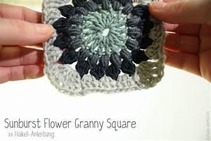 Granny Square Decke Häkeln : anleitung sunburst flower granny square haekeln kasa amend ~ Orissabook.com Haus und Dekorationen