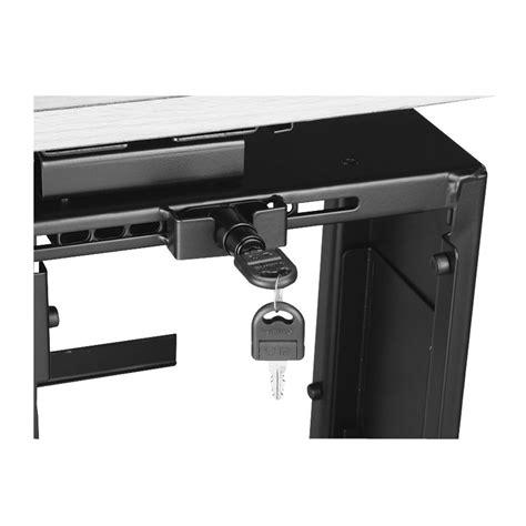 p desk locking desk pc holder from lindy uk