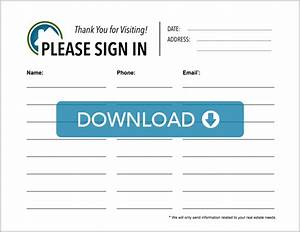 real estate open house sign in sheet free template With realtor open house sign in sheet template