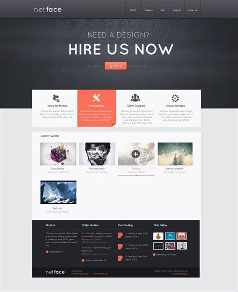 netface web design layout layout design website design