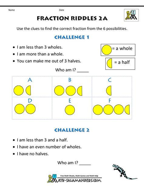 fractions for fraction riddles