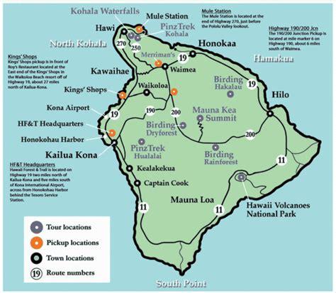 Bid On Travel Big Island Hawaii Tourist Map List Hawaii