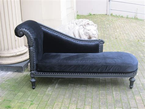 chaise cagne chic mahogany ornate shabby chic black velvet antique