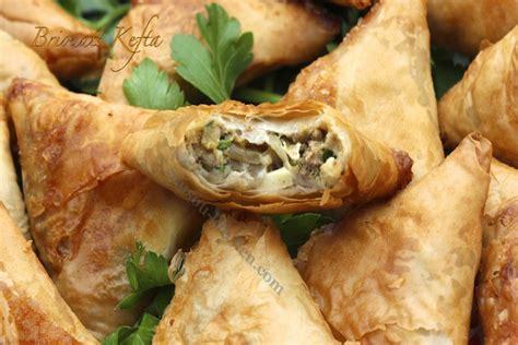 recette de cuisine de poulet briouates kefta briouats salés à la viande hachée