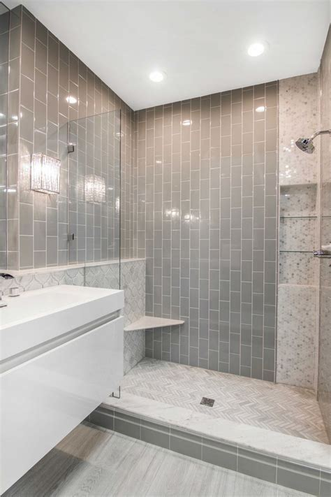 simple  elegant bathroom shower tile imperial ice