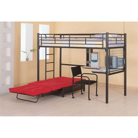 Bunks Twin Loft Bunk Bed With Futon Chair Desk