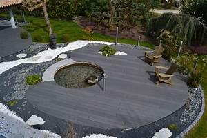 amenagement jardin exterieur avec galets amenagement With amenagement petit jardin avec piscine 10 parc