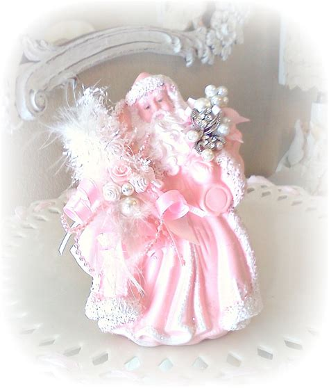 shabby chic pink pink shabby chic christmas santa claus victorian french
