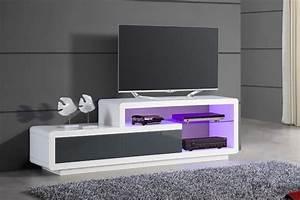 Meuble Bas Blanc Laqué : meuble tv bas design blanc ~ Edinachiropracticcenter.com Idées de Décoration