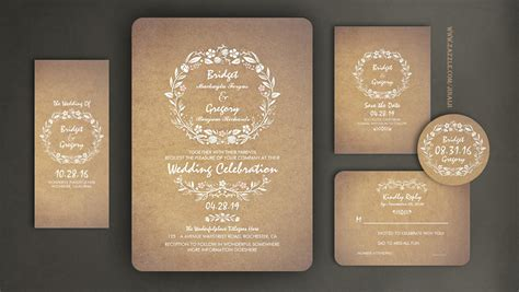 Read More Floral Cute Wedding Invitation With Modern Yet