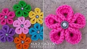 Diy Tutorial - How To Crochet Kanzashi Flower