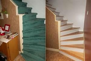 Renovation Marche Escalier : r novation escalier renover escalier bois rev tement et ~ Premium-room.com Idées de Décoration