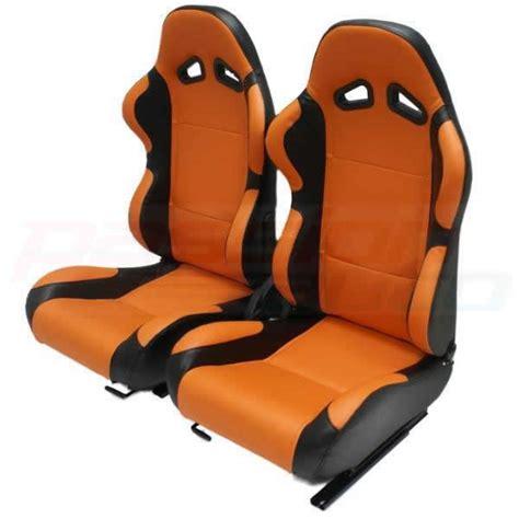 car seats for sports cars luxury orange black pvc reclining car seats sport