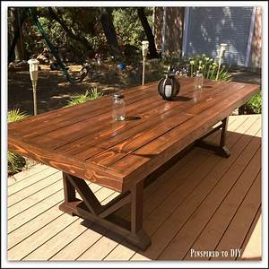 Diy, Large, Outdoor, Dining, Table