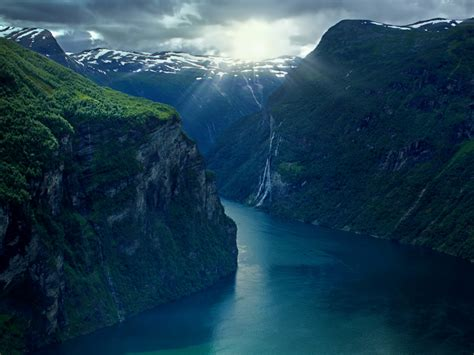 Light Green Aura by Geiranger Fjord Norway Wallpapers Geiranger Fjord Norway