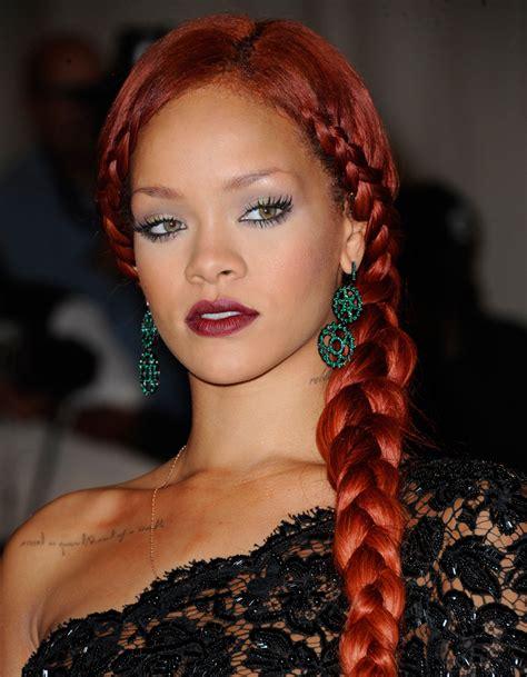 La Tresse Rousse De Rihanna  Coiffure  On Adopte Les