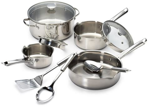 wearever cookware stainless steel cook strain silver piece sets saucepans