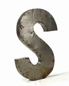 Industrial rustic metal large letter s 36 inch kathy kuo for 36 in letters
