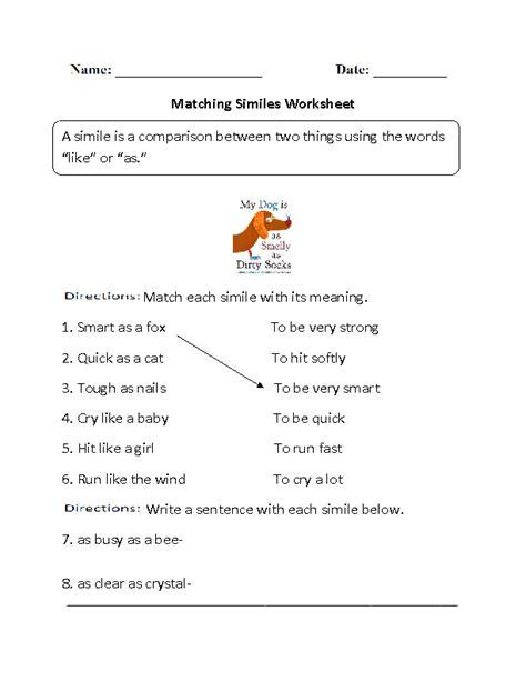 Englishlinxcom  Similes Worksheets