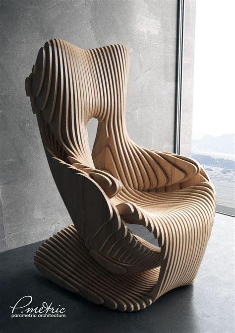 parametric chair  behance home decor   wood