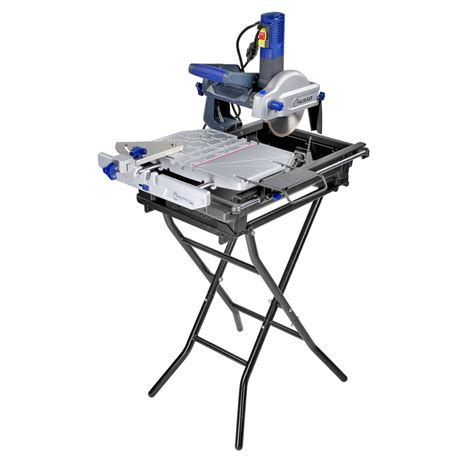 shop kobalt 7 in slide tile saw with stand at lowes com