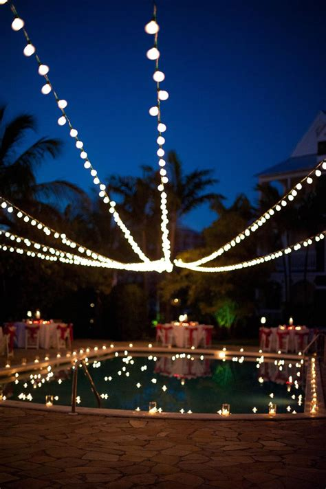 hanging lights around pool set chic bahamas weddings a s day inspired bahamas