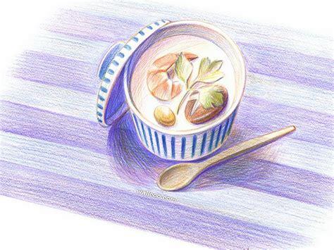 food drawings colored pencil drawings  foods