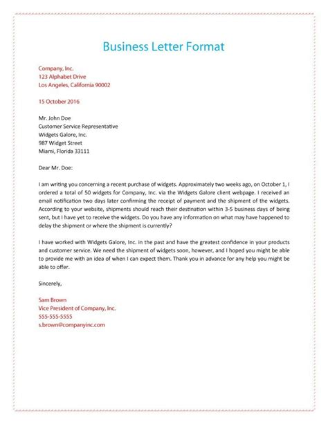 How To Write A Business Letter Format Template
