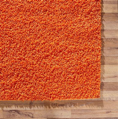 fluffy area rugs orange area rug shaggy warm soft carpet fluffy modern