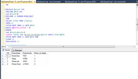 sql update from another table sql server loop through every row add incremented value
